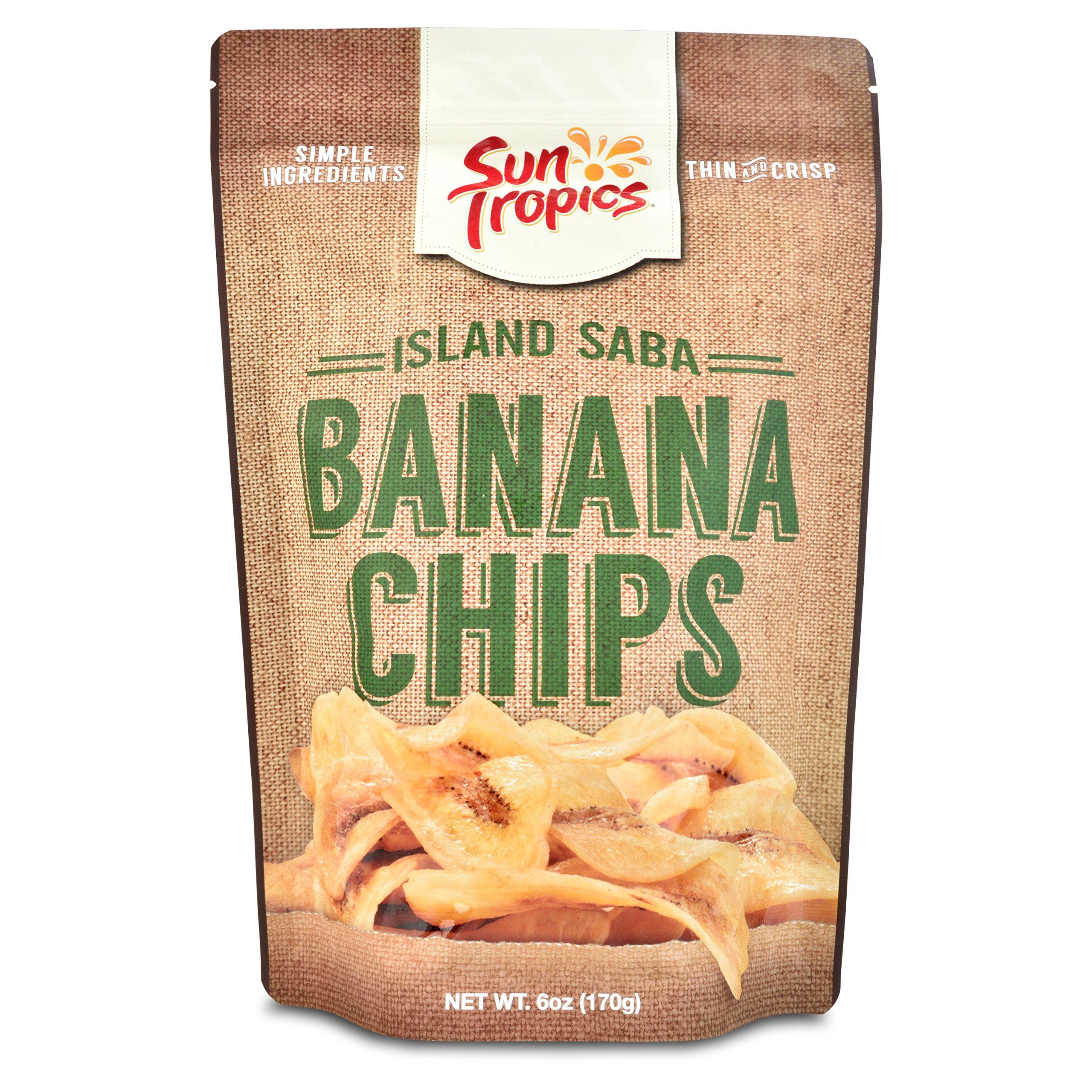 Sun Tropics Island Saba Thin Banana Chips 6oz (3 Pack)