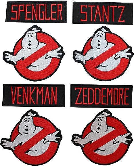 Ghostbusters-los nombres de los miembros del equipo de Hierro Coser Parche Bordado-Sharpe