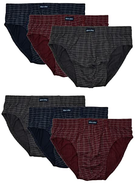f35508c7fd48 6 paia di mutande da uomo con e senza apertura, 100% cotone, combinazioni  di colore classiche: Amazon.it: Abbigliamento