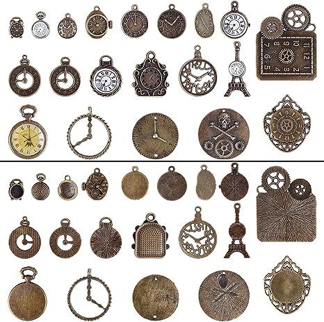 RagBag XIV/' Steampunk charm bracelet bronze with many pendants
