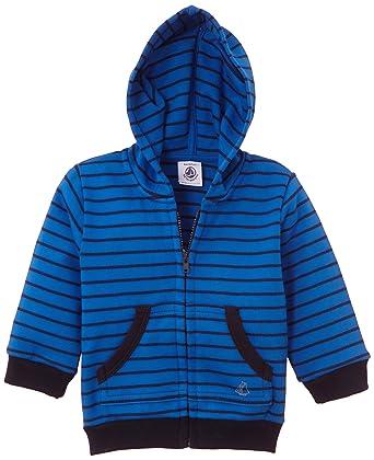0c777475bb10a Petit Bateau - Sweat-shirt à capuche - À rayures - Bébé garçon - Multicolore