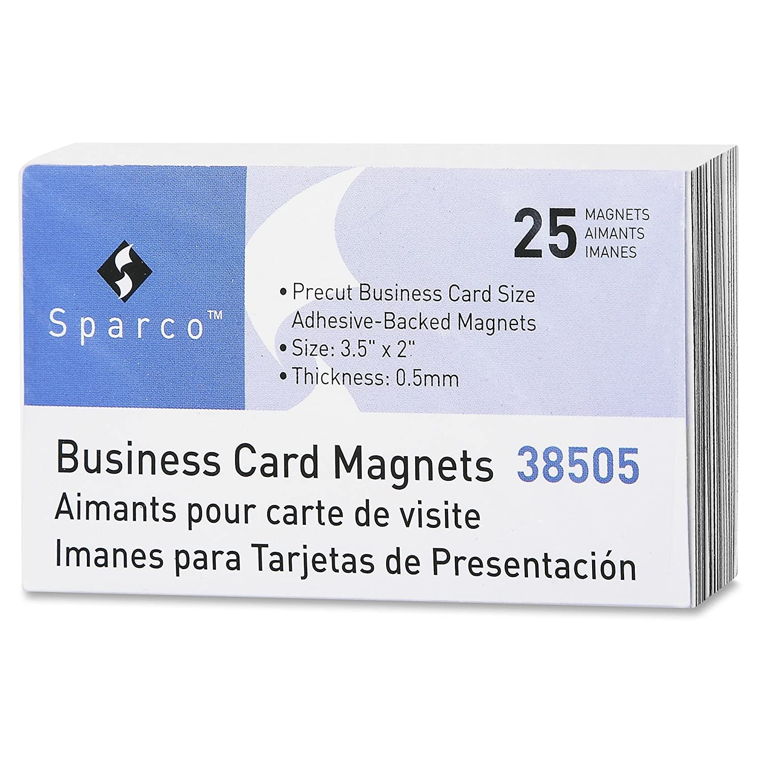 Amazon.com : Sparco Business Card Magnets (SPR38505) : Office Products