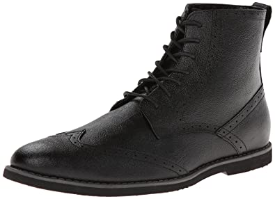 Calvin Klein Men's Fields Leather Boot,Black,9.5 ...