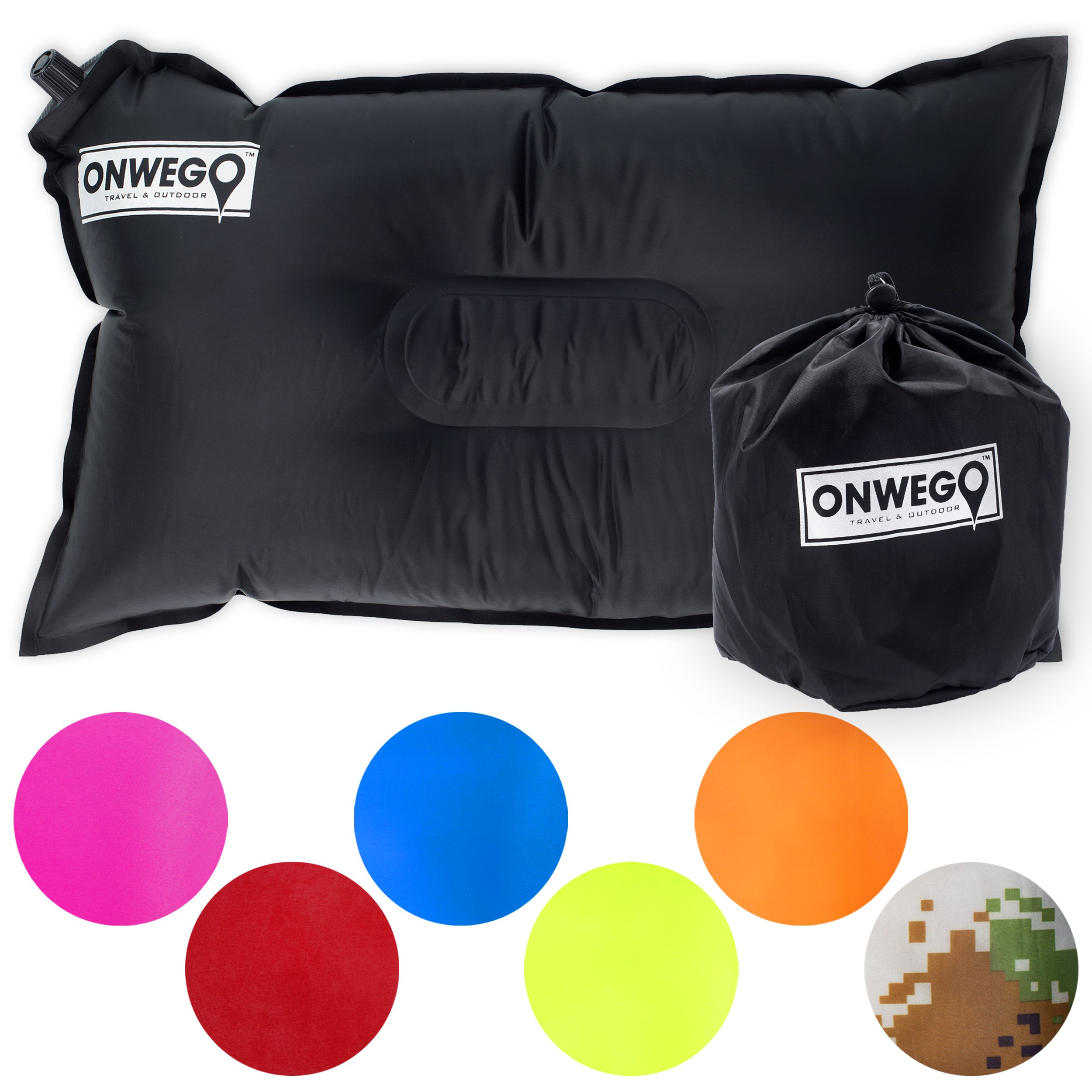 ONWEGO Inflatable Air Pillow - 20x12 inch