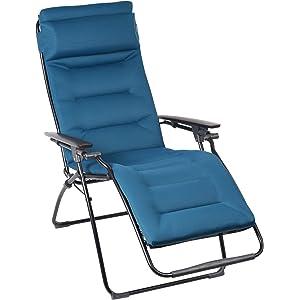 Lafuma Futura Air Comfort Padded Zero Gravity Chair - Coral Blue