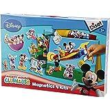 Diset - 46140 - Jeu de société - Jeu éducatif - Magnetics 4 Kits Mickey Club House