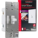 Enbrighten Zigbee Smart Light Switch with QuickFit and SimpleWire, Pairs Directly with Echo 4th Gen/Echo Show 10 (All)/Echo S