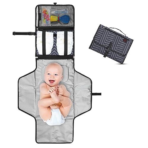 Cambiador Portátil de Pañales para Bebé - Kit Cambiador de Viaje - Completamente Acolchado - Esterilla