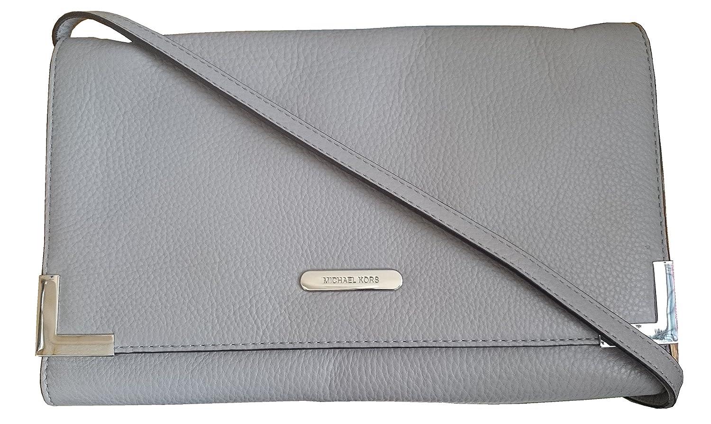 093bee274700 Michael Kors Beverly Oversized Clutch Handbag Leather Pearl Grey: Handbags:  Amazon.com