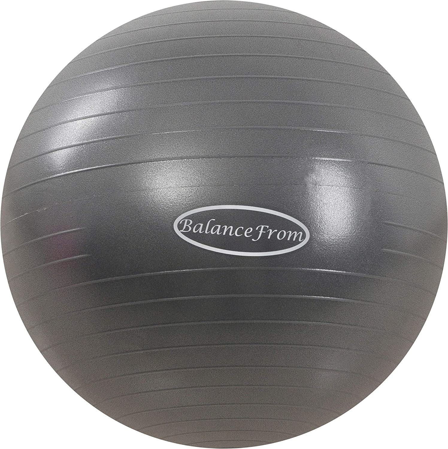 BalanceFrom Anti-Burst and Slip Resistant Exercise Ball Yoga Ball Fitness Ball Birthing Ball with Quick Pump, 2,000-Pound Capacity (78-85cm, XXL, Gray): Sports & Outdoors