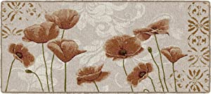 """Brumlow Mills Poppy Heaven Traditional Floral Area Rug for Kitchen, Entryway, Living Room or Bedroom, 20"""" x 44"""""""