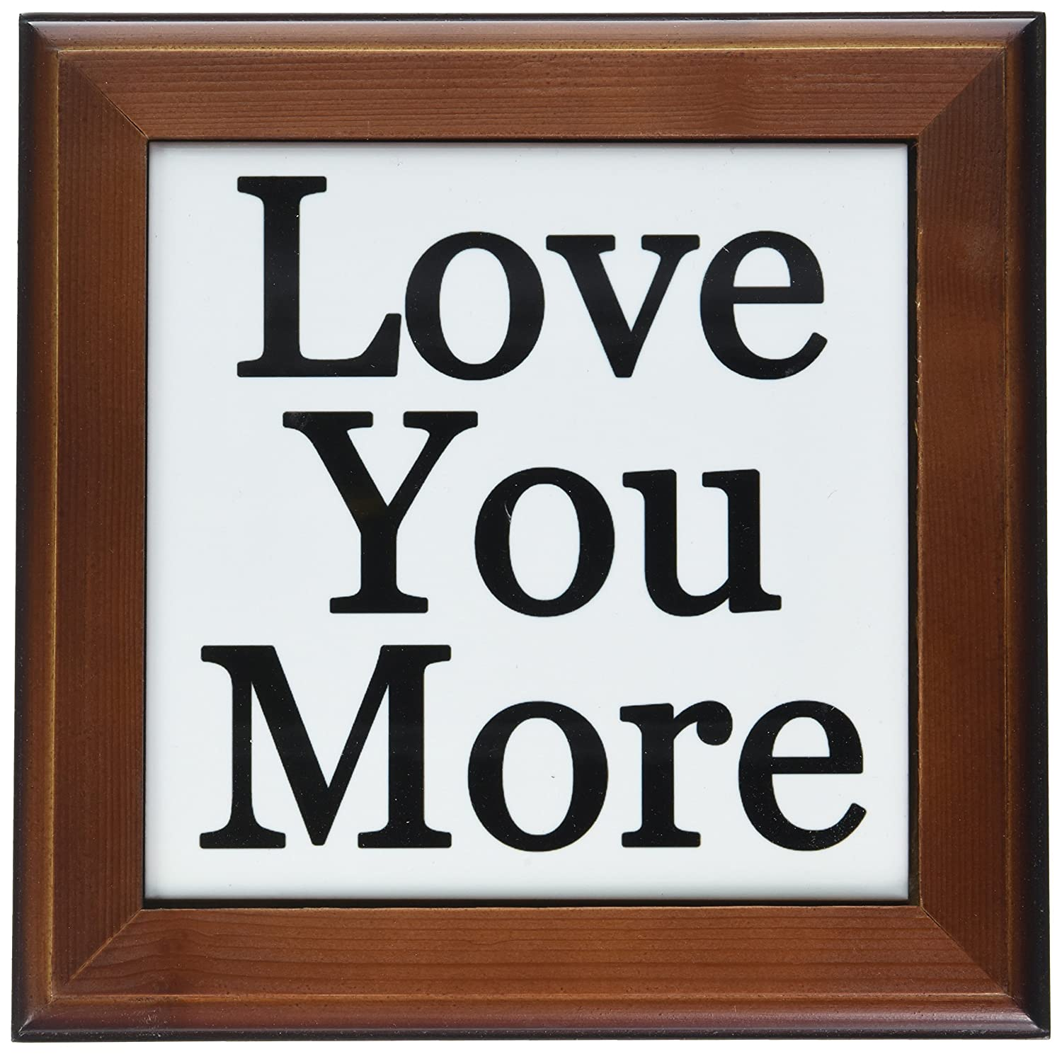 3dRose ft_193508_1 Love You More-Framed Tile Artwork, 8 by 8-Inch