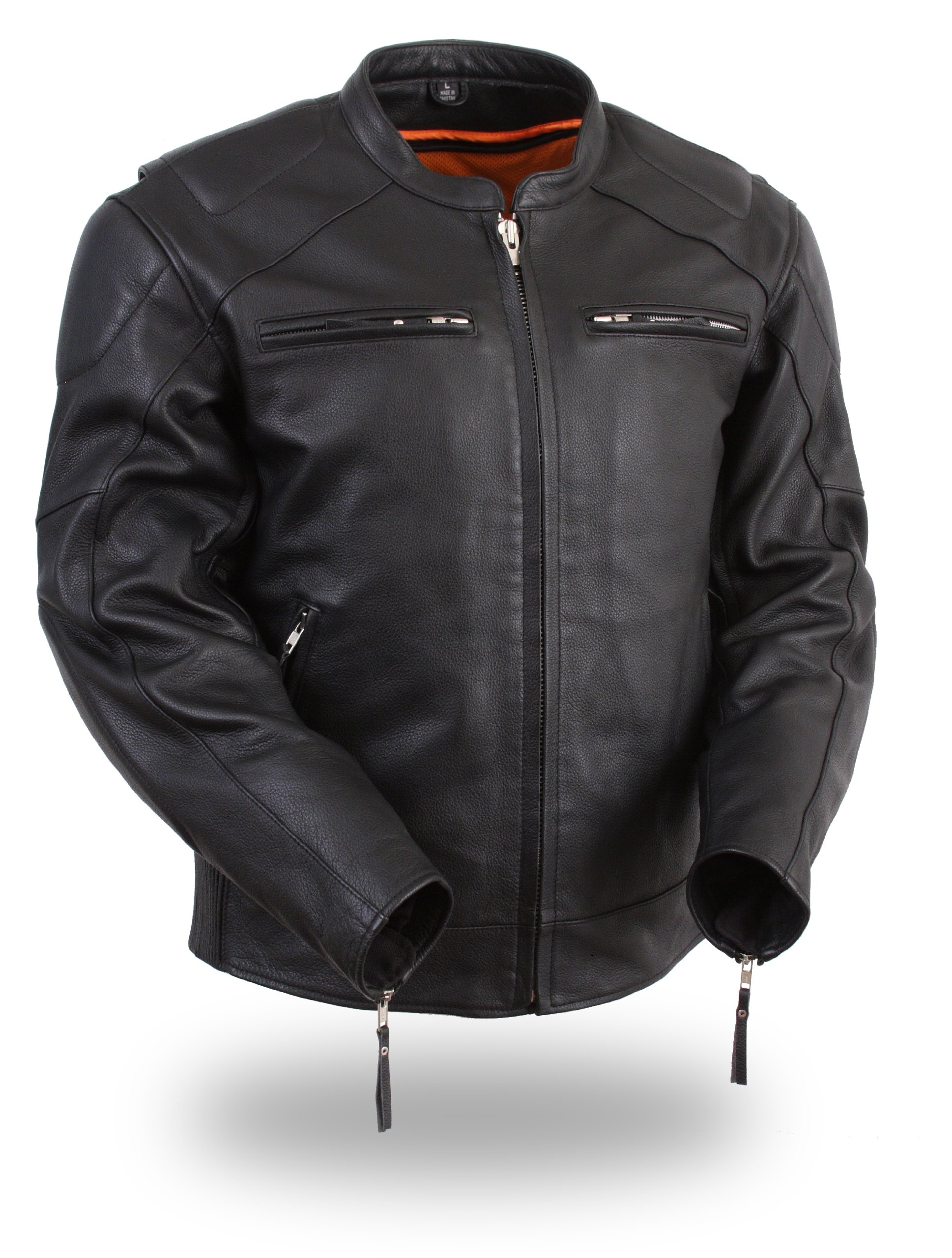 First Manufacturing Men's Vented Jacket with Side Stretch (Black, Small) by First Mfg Co