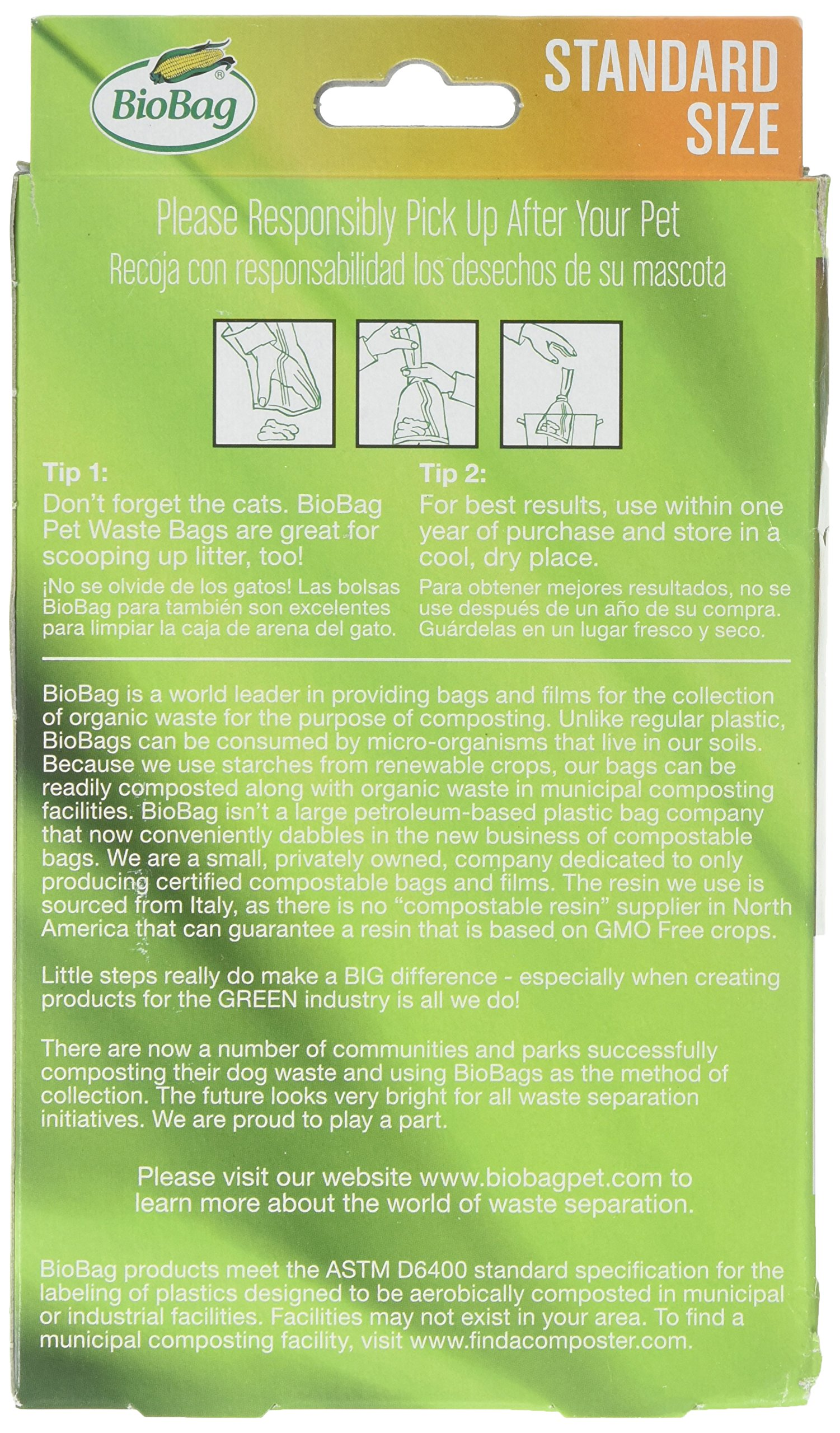 Bio Bag Premium Pet Waste Bags, Standard Size, 50 Count - Pack of 4 by BioBag (Image #2)