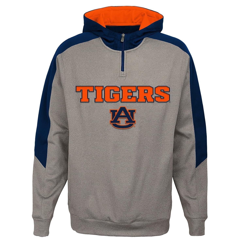 Light Charcoal X-Large NCAA Auburn Tigers Mens Outerstuff Illustrious 1//4 Zip Hoodie Fleece