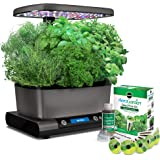AeroGarden Harvest Elite with Gourmet Herb Seed Pod Kit, Platinum