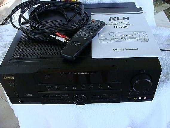 Amazon. Com: klh r5100 surround sound receiver w/ manual, remote.
