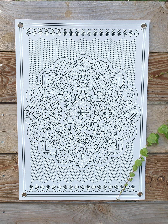 Mandala g/éant /à peindre ou /à colorier DIY /© Christelle Gossart