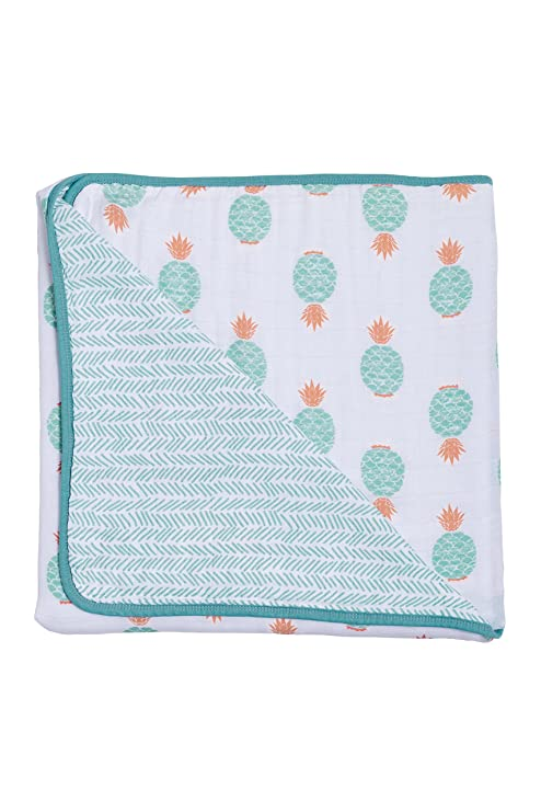 Fresco and Lagoon SBBFL Bebe au Lait Oh So Soft Muslin Snuggle Blanket
