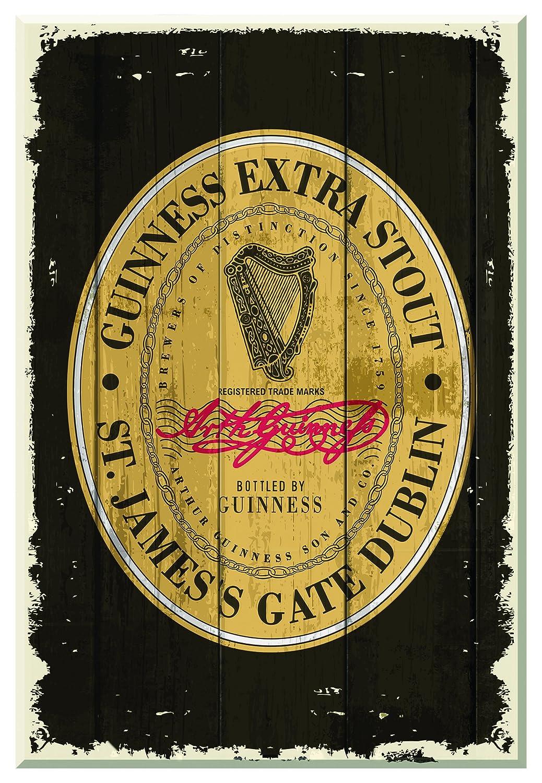 Amazon.com: Guinness Heritage Label Wallart Wooden: Home & Kitchen