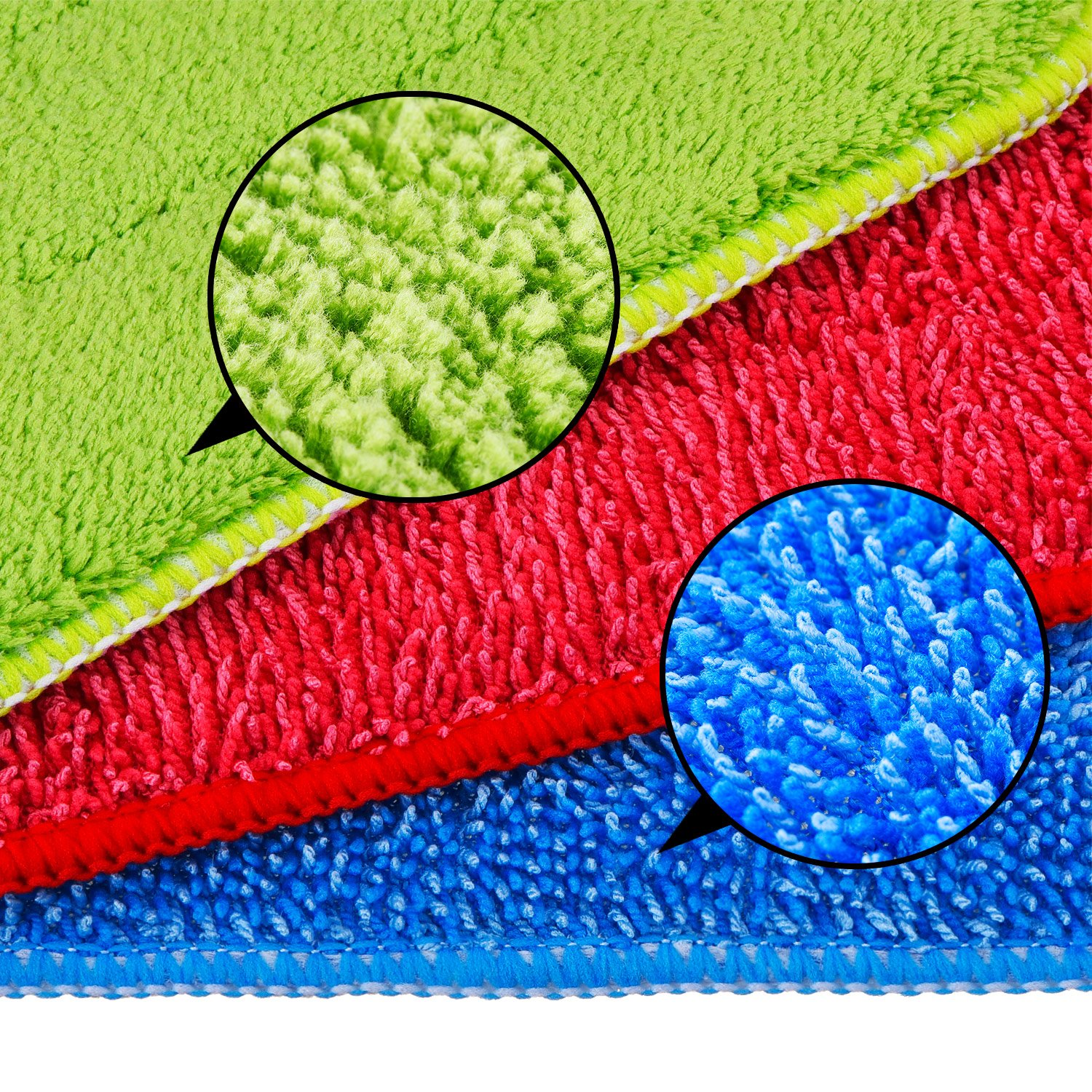 TecUnite 6 Pieces Microfiber Cleaning Pads Reveal Mop 16 to 18 inch Fit for Most Spray Mops and Reveal Mops Washable (16.5 x 5.5 inch) by TecUnite (Image #2)