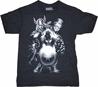 Marvel Comics Avengers Black Graphic T-Shirt