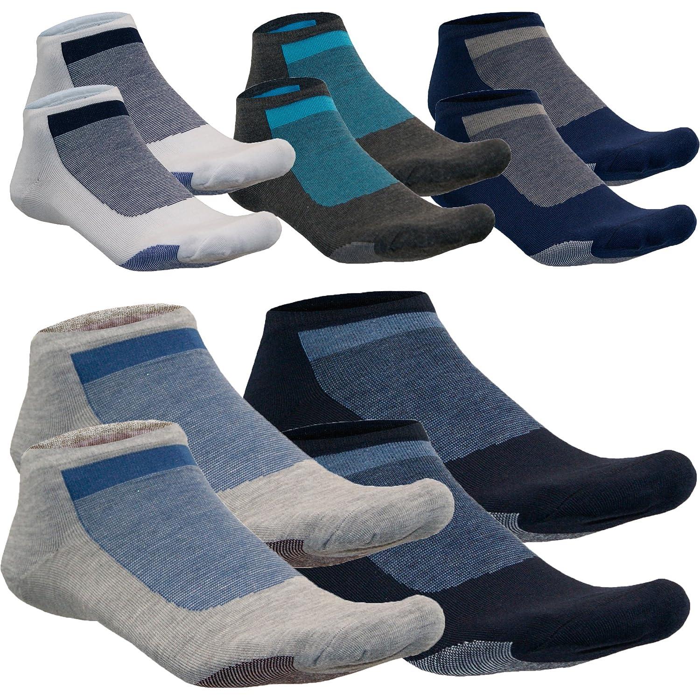 Sneaker Quarter Kurzsocken Füßlinge Baumwolle Schwarz Muster Schwarz Blau Grau von SGS