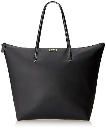 Amazon.com: Lacoste Women's Concept Travel Shopping Bag, Black ...