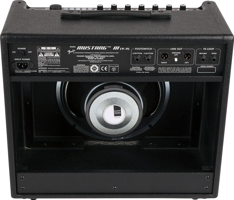 Fender Mustang III 2300300000 100 Watt Guitar Combo Amplifier Black Amazonin Musical Instruments