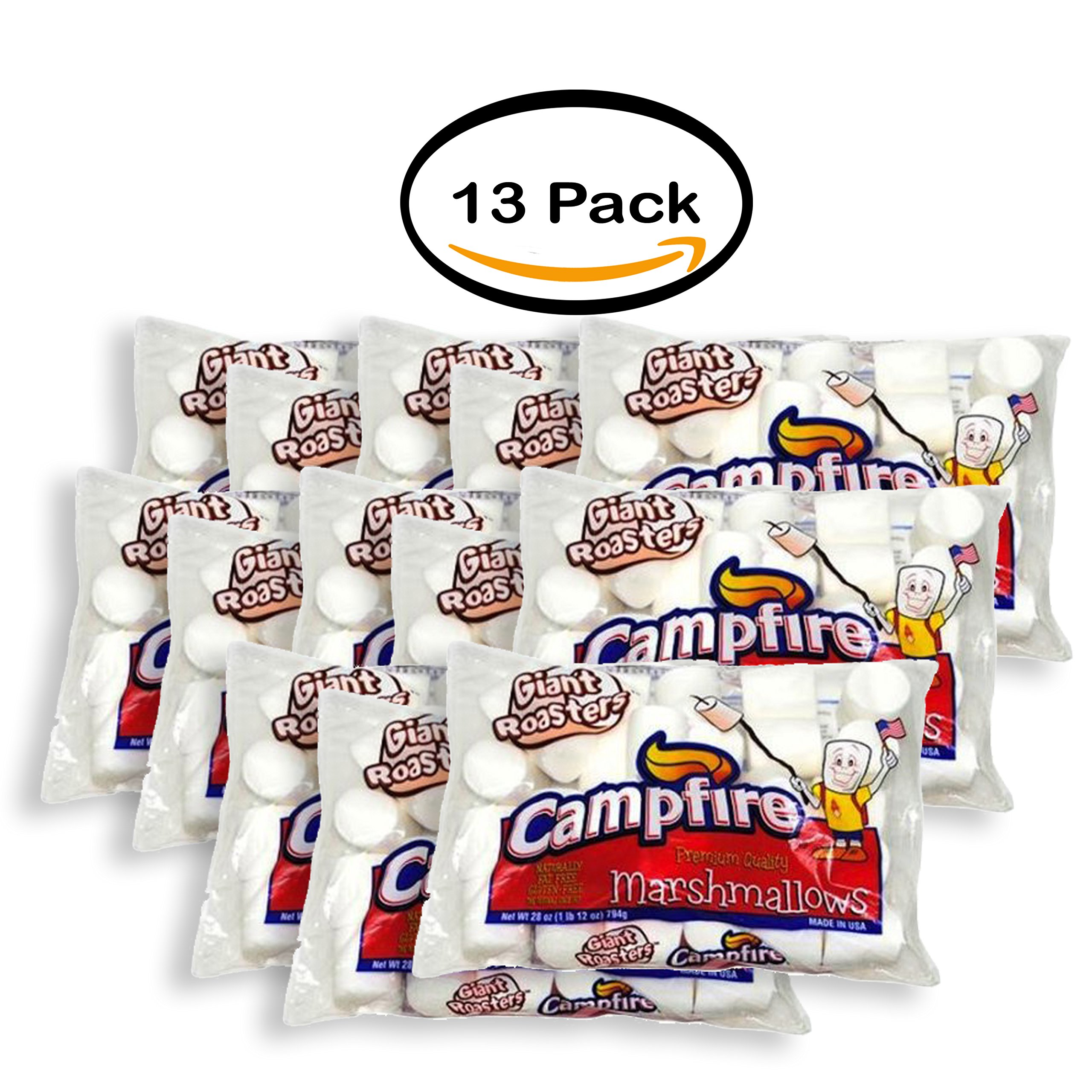 PACK OF 13 - Campfire Giant Roaster Marshmallow, 28 Ounce