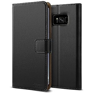 HOOMIL Funda Samsung Galaxy S8, Cuero Premium Fundas para Samsung S8 Carcasa Case (H3059, Negro)