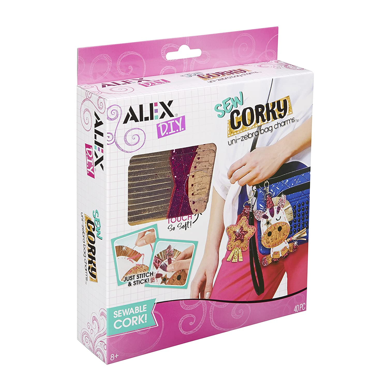 ALEX DIY Sew Corky Uni Zebra Bag Charms ALEX Toys 650014-1