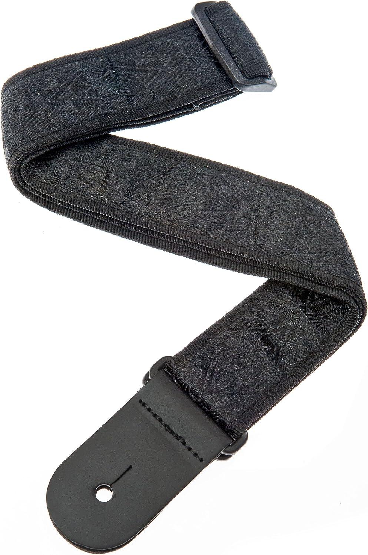 Black Satin D/'Addario 50B01 Planet Waves Woven Guitar Strap
