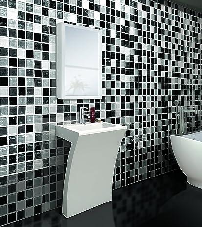 7shape cedar falls modern vanity pedestal sink with medicine cabinet white by