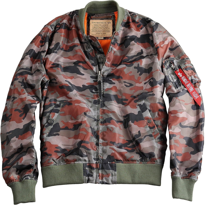 ALPHA INDUSTRIES Men's Bomber Jacket Caramel