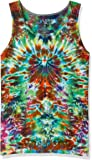 Liquid Blue Unisex-Adult's Crazy Krinkle Tie Dye Tank Top, Multi Colored