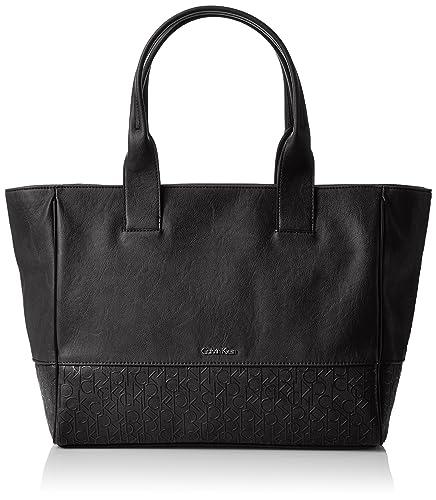 2accfcb2f4 Calvin Klein Maddie Sac à main pour femme Grand format - noir - noir, Taglia