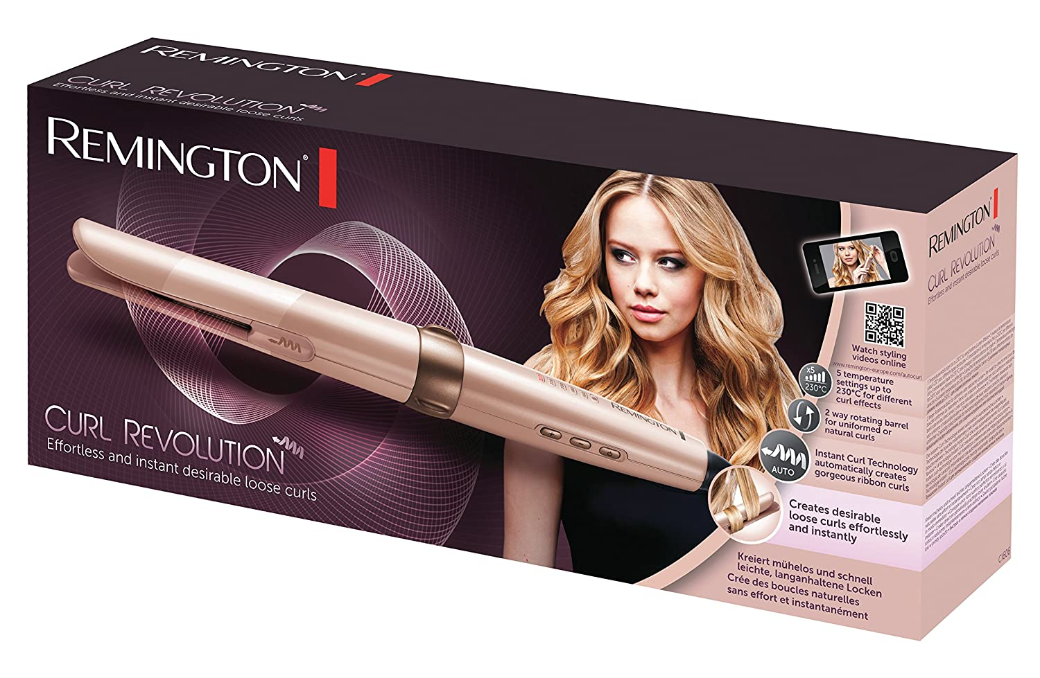 Amazon.com: Remington Hair Curler CI606 Curl Revolution ...