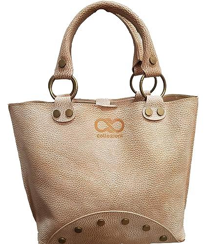 Exclusive Real Italian Leather Ivory Handbag Bag Designer Womens Ladies Sale  Tote hobo bag 916eaca22a74f