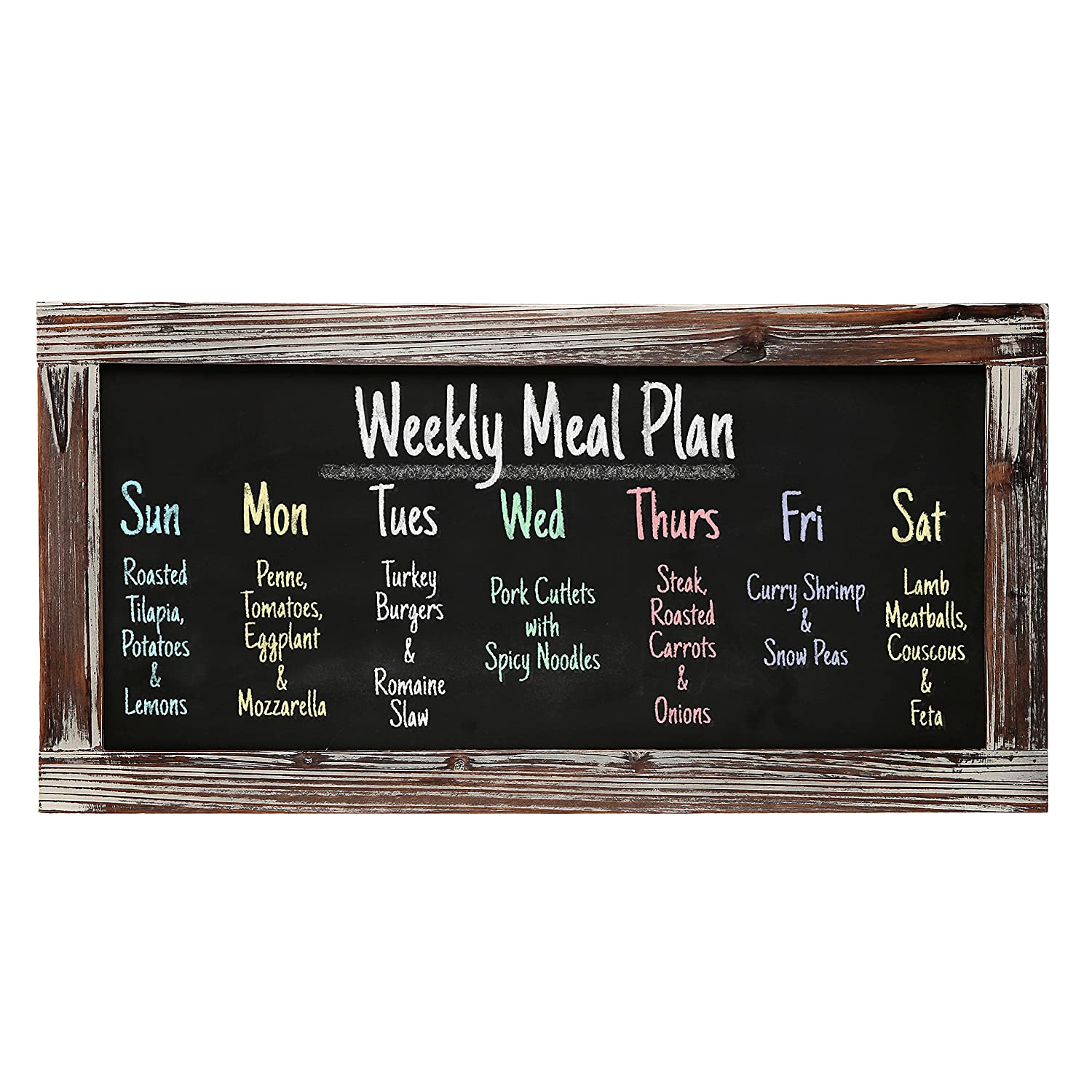 Rustic Erasable Blackboard Message Restaurant Image 1