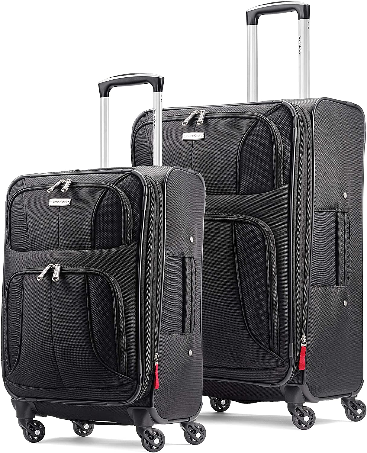 Samsonite Aspire xLite Expandable Softside 2-Piece Luggage Set 20 29 with Spinner Wheels, Black