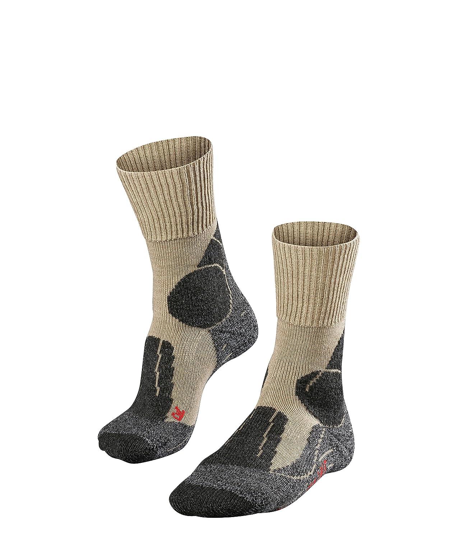 FALKE TK 1 - Calcetines de senderismo para hombre, tamaño 44-45, color asfalto 16481