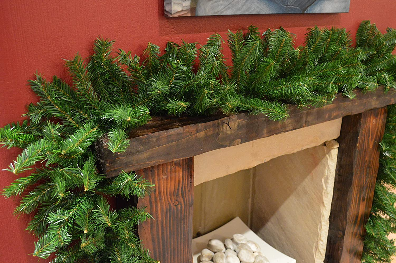Plain Artificial Pine Garland 2.7m Premier Decorations