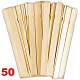 Paint Paddles 12 In. | Bulk Pack of 50 Hardwood Stirrers | Stick to Mix Wax, Epoxy or Resin Gelcoat | Garden or Library Marker | Wood Crafts | Guaranteed Satisfaction | Kids Craft or Hobby Projects