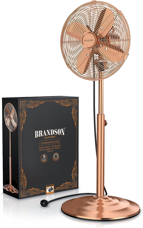 Brandson – Ventilador de pie en diseño de Cobre | Soporte para ...