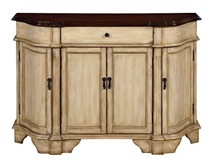 Credenza Dark Brown : Amazon.com: treasure trove four door one drawer credenza cream and