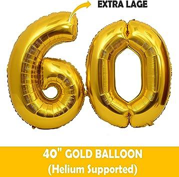 Amazon.com: MEANT2TOBE - Kit de decoración para fiesta de 60 ...