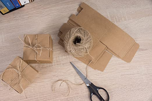 Amazon.com: Cajas de regalo Kraft – Cajas de papel de regalo ...