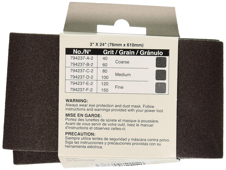 Makita 794237-C-2 3 by 24-Inch Number 80 Sanding Belt, 2-Pack - Sander Belts - Amazon.com