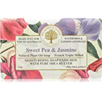 Wavertree & London Moisturising French Triple Milled Sweet Pea and Jasmine Bar Soap, 200g